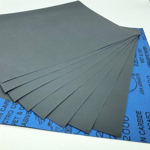 9/'/'x11/'/' Wet dry Sandpaper Sheets 400//600//800//1000//2000//3000//5000 Grit Polish 1×
