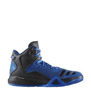 mens adidas duplice minaccia metà blu e nero basket scarpe le scarpe