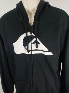 Quiksilver-Zip-up-Sweater-Black-Size-Large-2331