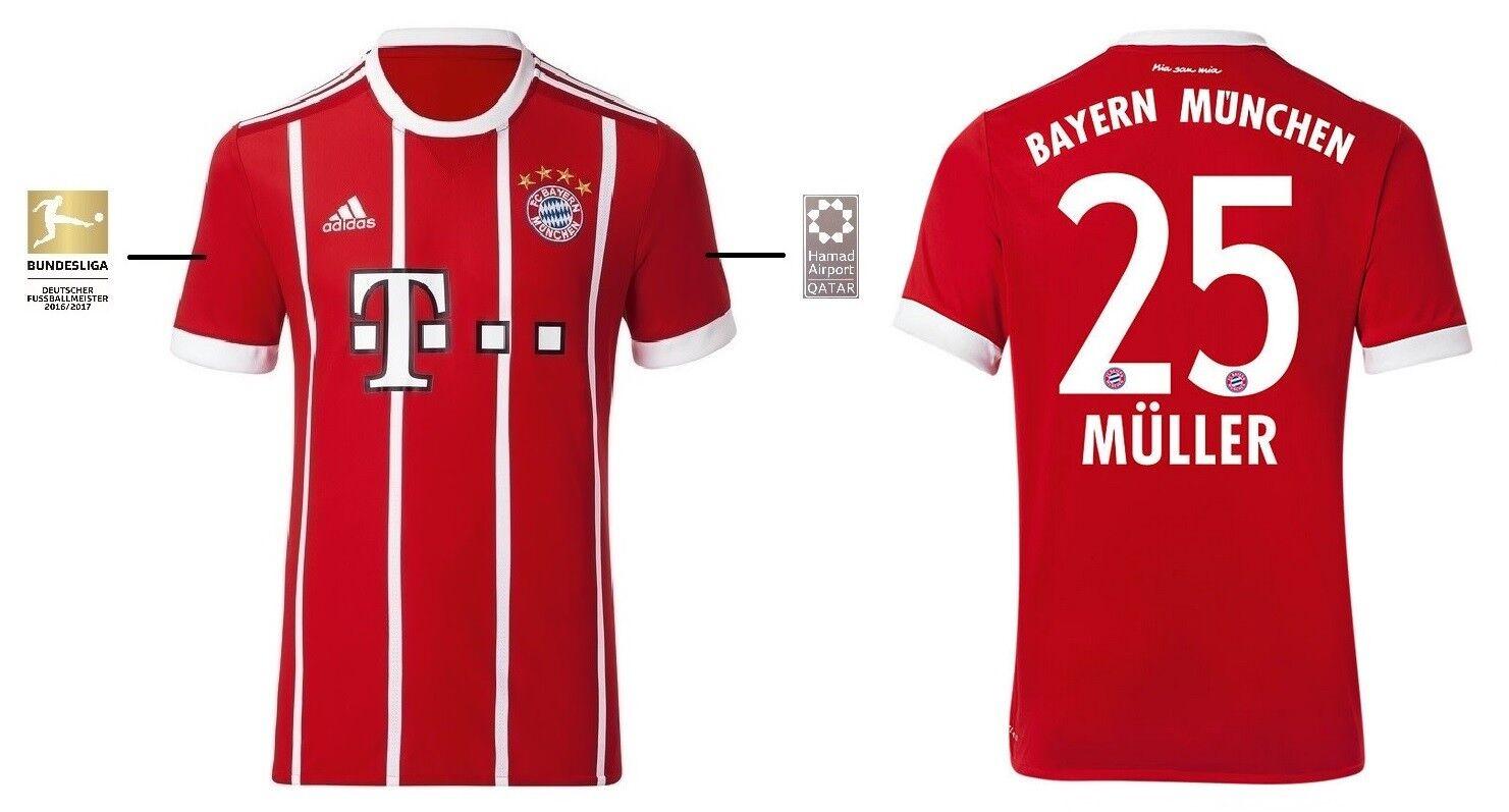 Trikot Adidas FC Bayern München 2017-2018 Home BL - Müller 25  FCB