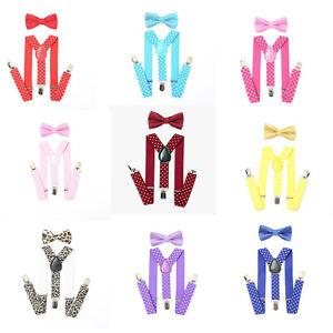 Adjustable-Unisex-Baby-Suspender-Bow-Tie-Set-Braces-Toddler-Boys-Girls-Kids