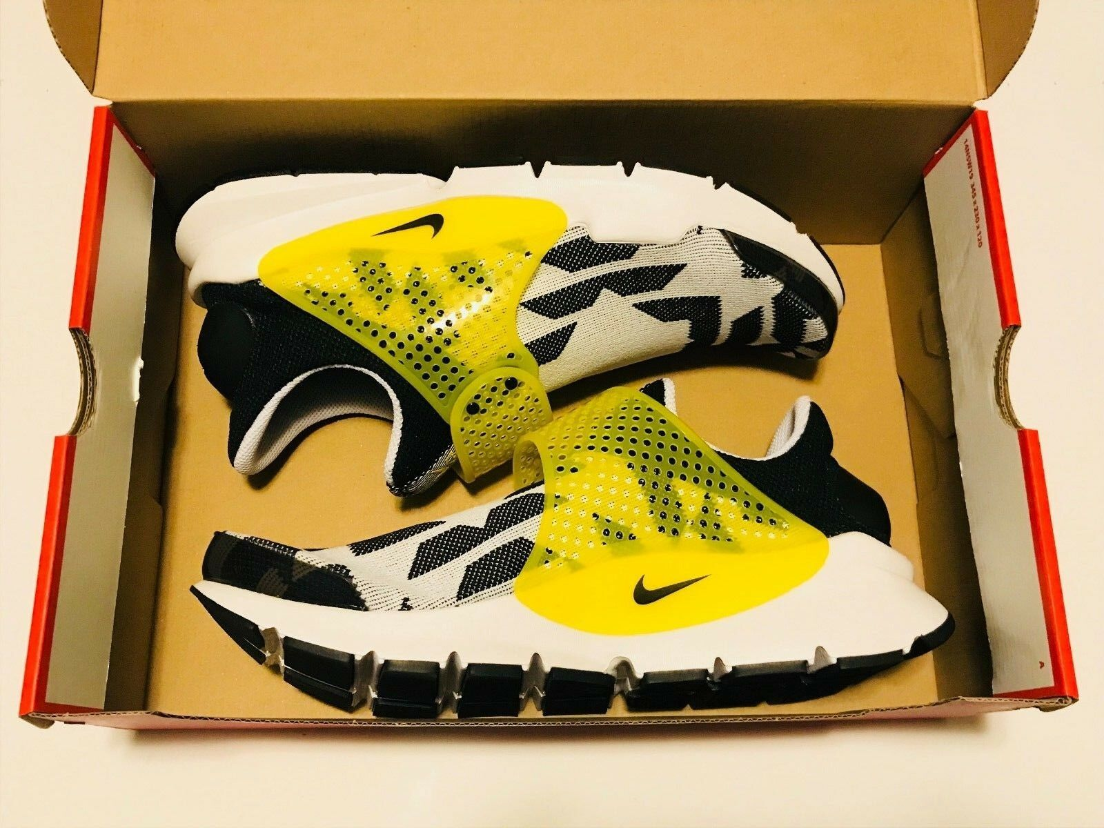 Nike calzino bianco nero del dardo gpx (mais 908660-117 uomo numero 10