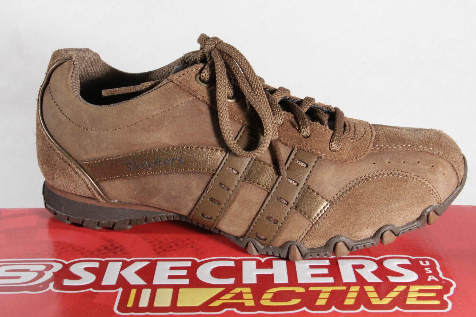 Skechers Scarpe con Lacci scarpe da ginnastica Marronee, pelle Nuovo