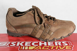 Skechers-Lace-up-Sneakers-trainers-brown-leather-new