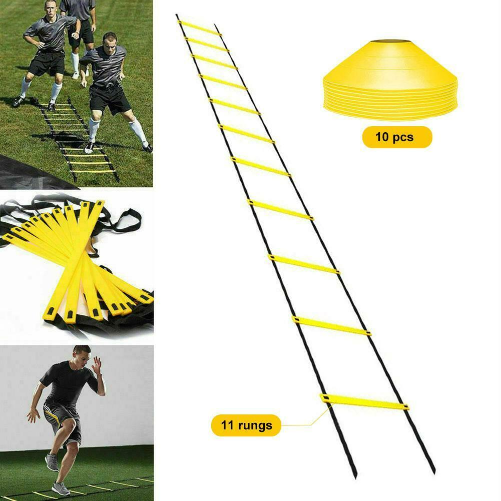 5-12 Rung Agility Ladder for Soccer Speed Football Feet Pace Training PP Plastic