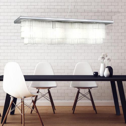 LED ALU Pendel Lampe Wohn Zimmer Beleuchtung Glas Behang Decken Hänge Leuchte