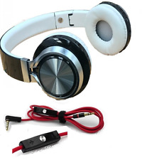 Wireless Bluetooth Portable Headset Headphone Ear Pads and DR DRE Beats Aux Lead