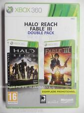 Double Pack jeu HALO REACH + FABLE III 3 pour xbox 360 en francais complet X360