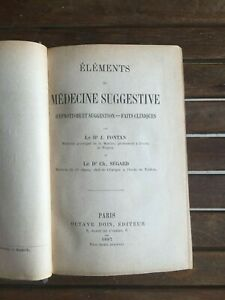 FONTAN-SEGARD-ELEMENTS-DE-MEDECINE-SUGGESTIVE-Hypnotisme-et-suggestion