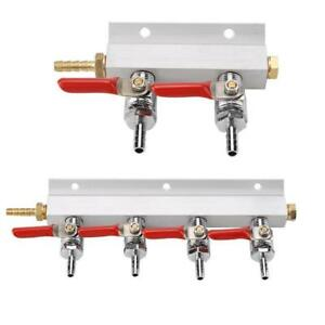 2-Way-4-Way-Splitter-CO2-Beer-Gas-Manifold-Distributor-Check-Valve-Regulator-LJ