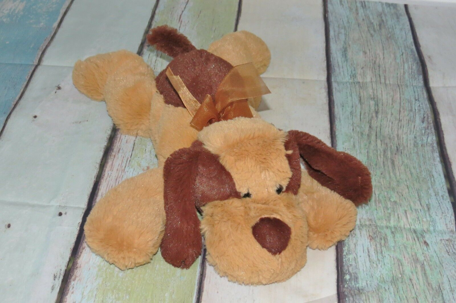 Circo Puppy Dog Braun Laying Super Soft Plush Stuffed Floppy Baby Toy 14