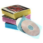 100x CD DVD DISC Clear Cover Storage Plastic Sleeve Wallet Holder Packs JYL