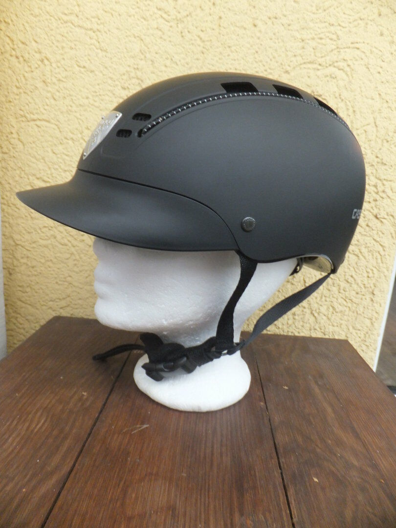 Casco Passion reithelm negro con sello vg1.01 modelo 2019