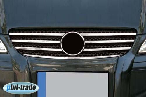 Acero Inox Enfriador Parrilla Listones Cromo para Mercedes Vito W639 i Año Fab.