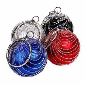New-Crystal-Women-Evening-Bag-Ball-Clutch-Handbag-Sphere-Bag-Bead-Party-Purse-JK