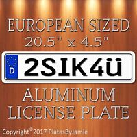 2sik4u Euro Style Aluminum European License Plate Tag Germany German 2sik4ü