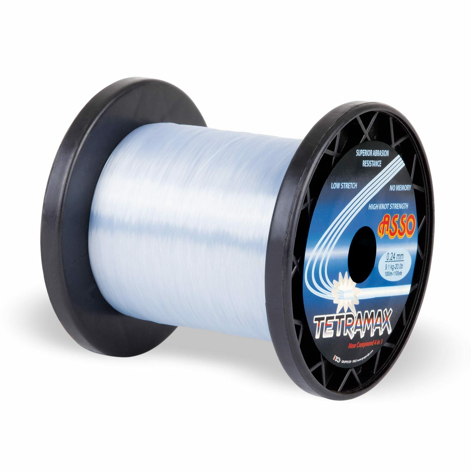 0,06eurm ASSO monofili lenza TETRAMAX MONO 1000m 0,40mm 11,90kg blu