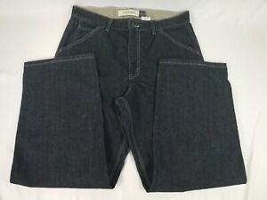 GAP-Mechanic-Dark-Blue-Denim-Jeans-100-Cotton-Mens-Size-34-x-30-USA-Made