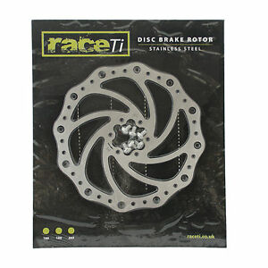Stainless-Steel-MTB-Bicycle-Disc-Brake-Rotor-180mm-including-bolts-UK-seller