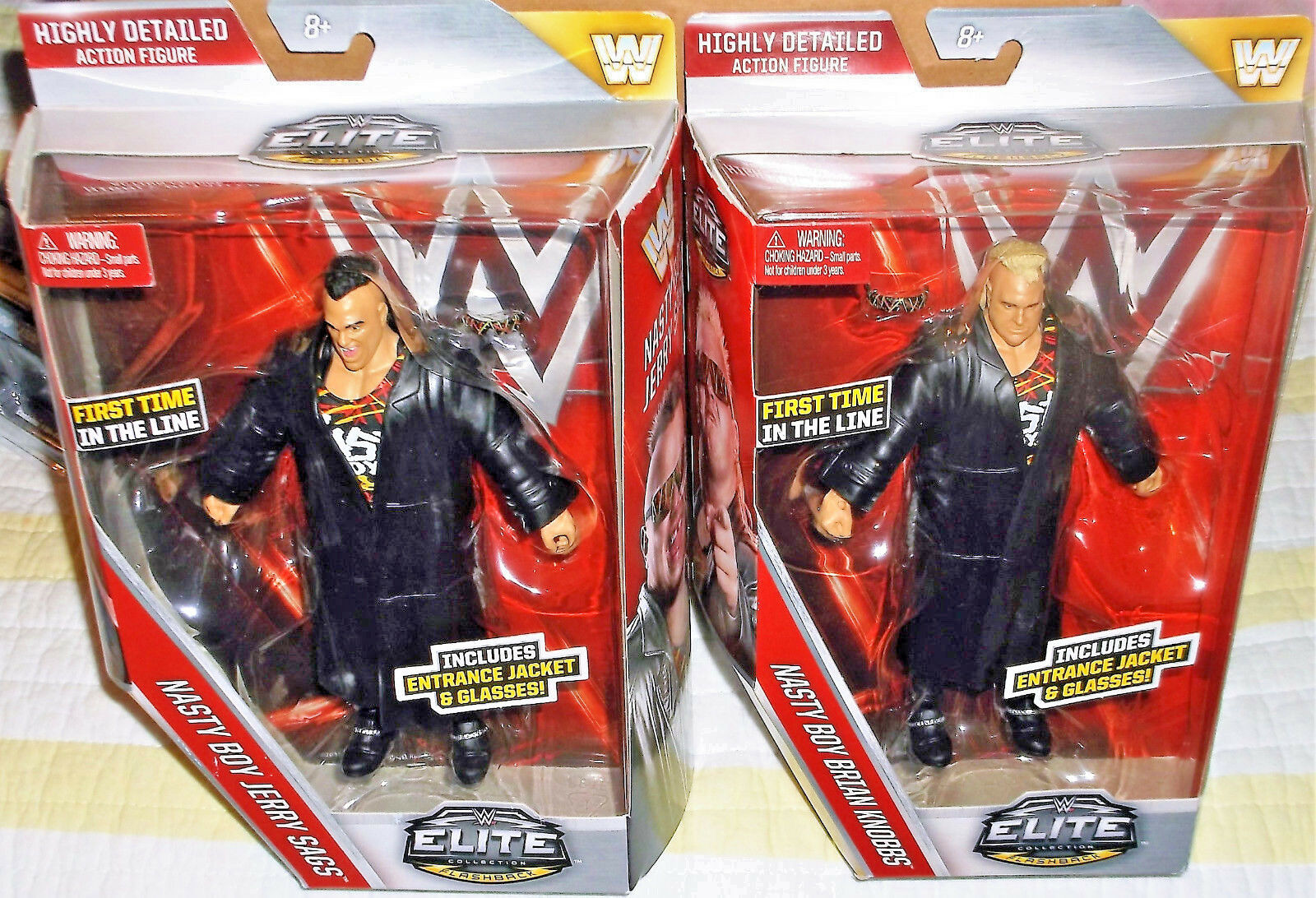 2016 Mattel WWE Elite 2 Pc set Nasty Boys Jerry Sags & Brian Knobbs 6  Plastic W