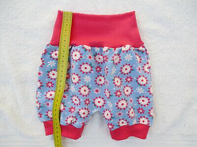 68 Sommerhose Einhorn selbstgenäht NEU 56-62 Baby Pumphose Jerseyhose kurz Gr