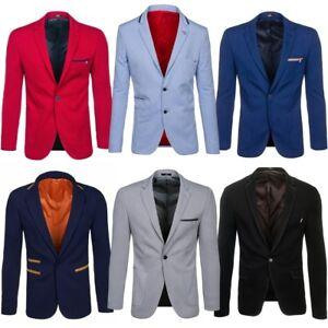 Senores-de-tu-chaqueta-chaqueta-Classic-slim-fit-Jacket-sweatjacke-blazer-Mix-bolf-4d4-Men