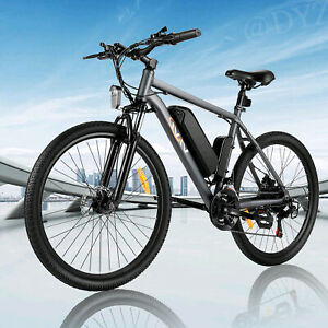 26INCH Electric Bike Mountain Bicycle EBike SHIMANO 21Speed 36V Li-Battery~