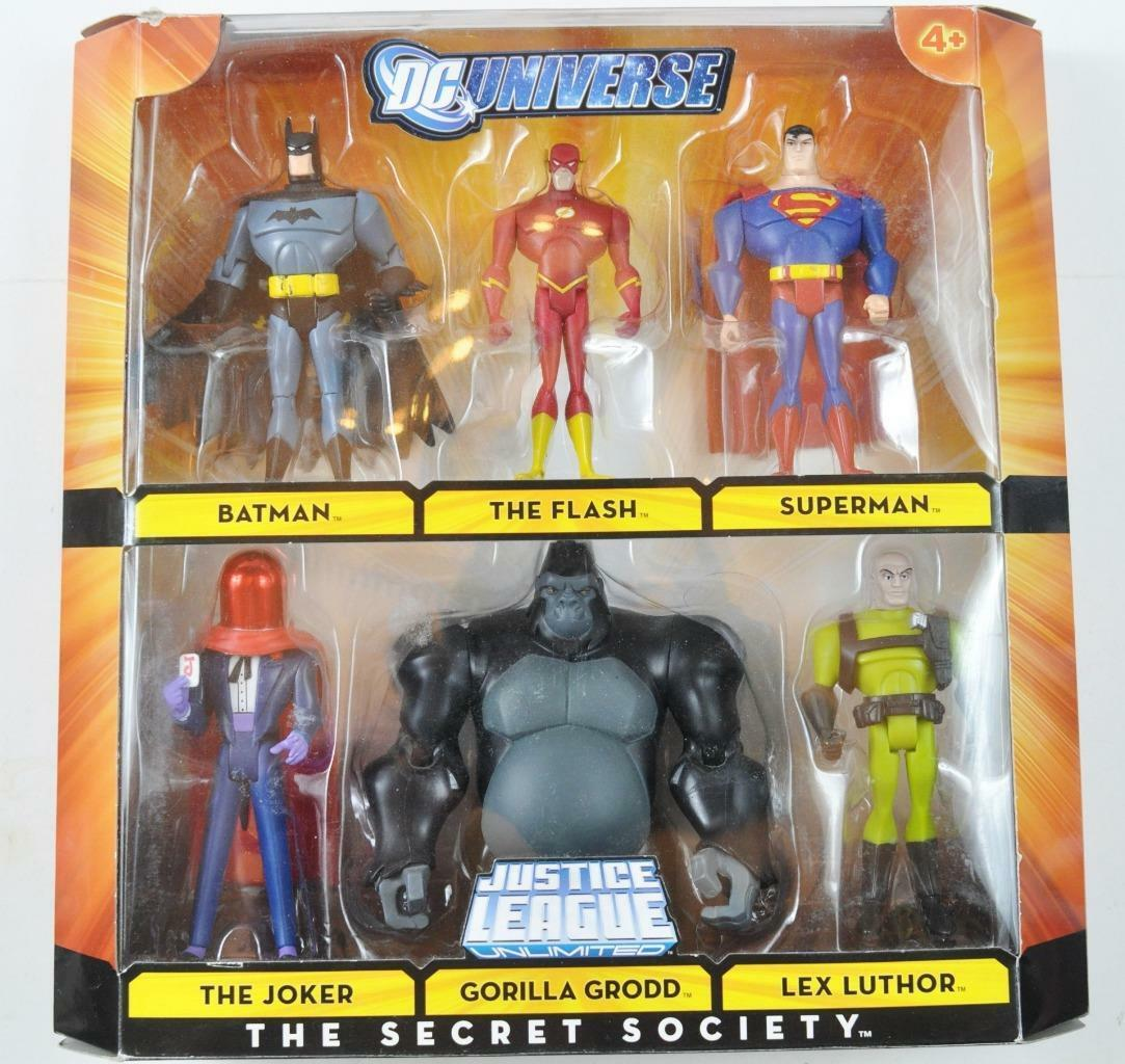 2008 Justice League THE SECRET SOCIETYJOKER FLASH BATMAN SUPERMAN LUTHOR GROOD