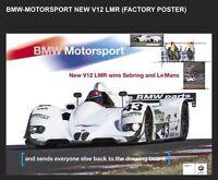 Bmw Motorsport V12 Lmr Racing (factory) Car Poster :>) Wow