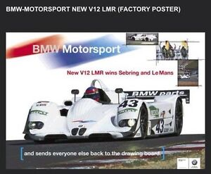 BMW Motorsport V12 LMR Racing (FACTORY) Car Poster :>) WOW!!