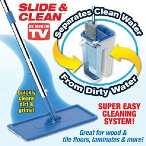 INSTA-MOP-SLIDE-amp-CLEAN-The-Revolutionary-Cleaning-System-As-Seen-on-TV-NEW