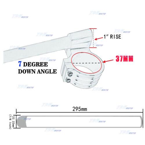 Black 37MM CNC High Lift Clip Ons On Handlebar for Kawasaki SUZUKI GS500