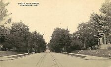View on South 12th Street in Newcastle IN Postcard