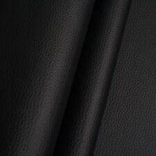 Kunstleder Meterware 1lfm 1,4m breit Polsterstoff Bezugsstoff Lederoptik Schwarz