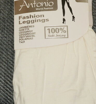 Antonio World Fashion Leggings Hoher Bund Jersey Lang Knöchel  S M L XL Sommer