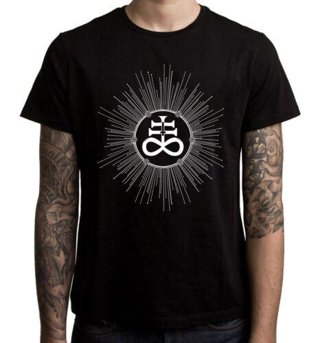 Satanism Satan Satanic Cross Inverted Leviathan Men/'s T-Shirt