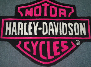 Harley Davidson Hand Carved Rug Hot Pink 100 Acrylic Bar