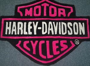 Image Is Loading Harley Davidson Hand Carved Rug Hot Pink 100