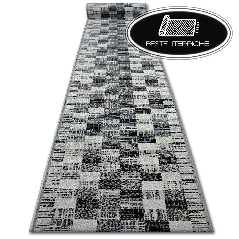 Modernen billig Läufer BCF  BASE    grau QUADRATE treppe Breite 60-120 cm | Hochwertige Produkte  eb5a45