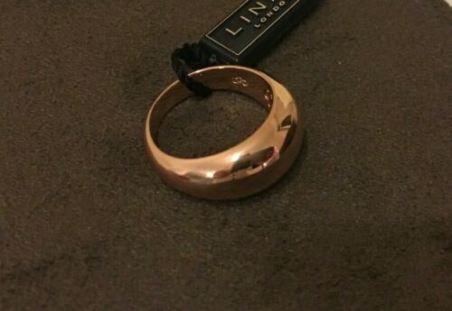 Links of London Rose Gold Plated Dome Ring RRP over £100  size Large