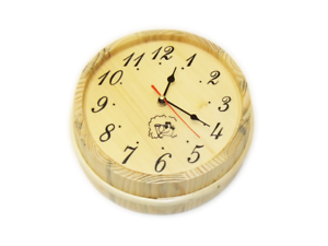 Saunauhr Saunazubehör Holzuhr Sauna Quarzuhr Wanduhr Saunawanduhr Faßuhr Uhr