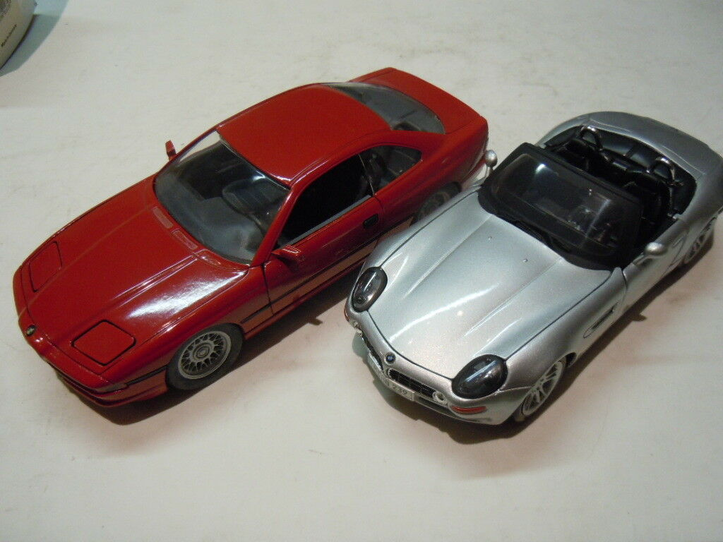 forma única 2 rare bmw bmw bmw 850i y Z 8 coches deportivos modelos de Schabak y maisto en 1 24 nuevo  moda clasica