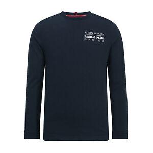Magasiner Pour Pas Cher New! 2019 Aston Martin Red Bull Racing F1 Homme T-shirt à Manches Longues Bleu Marine Ou Blanc-afficher Le Titre D'origine
