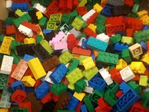 50 Mixed Lego Bricks 1 x 2  1 x 3  1 x 4 Bundle Joblot