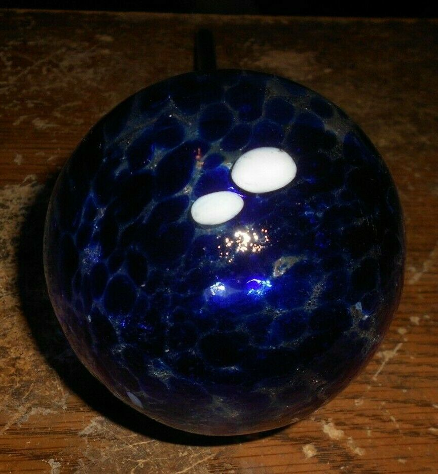 12 inch long blue glass automatic plant watering globe in nice shape new