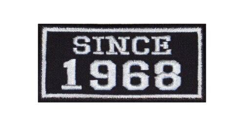 Since 1968 Biker Patch ricamate anno MC moto rocker tonaca Club numero dal