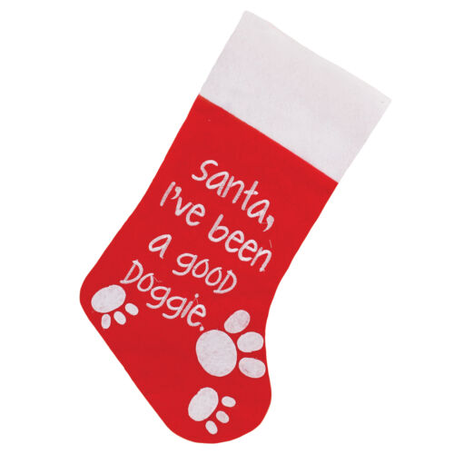 Felt Christmas Pet Stocking with Design to Front Choose design