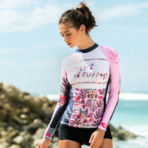 1c29b48276c0e Women's Rash Guard Swimwear Long Sleeve UPF 50+ UV Protection Surf ...