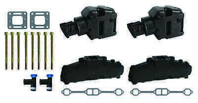 Exhaust Gasket manifold mercruiser 5.0 mpi 5.7 350 mag riser block v8 elbow kit