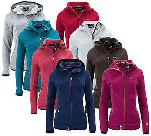 1-Strickfleece-Jacke-Hoodie-Damen-Fleecejacke-blau-tuerkis-coral-rot-pink